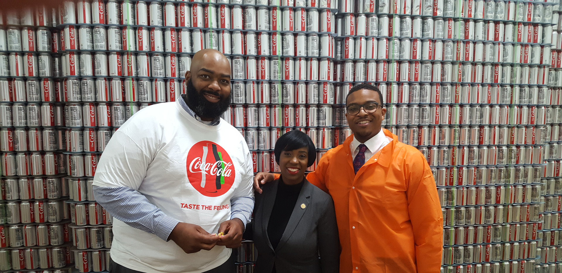 Delegates Lashresce Aird (D-Petersburg) and Lamont Bagby (D-Henrico) Visit Coca-Cola Sandston