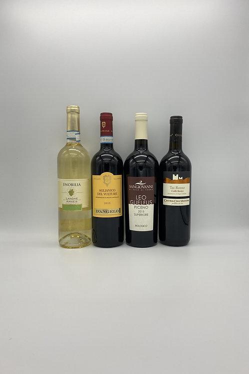 デイリーワイン4本セット(白ワイン1本、赤ワイン3本)