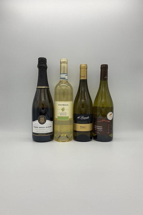 デイリーワイン4本セット(泡1本、白ワイン3本)