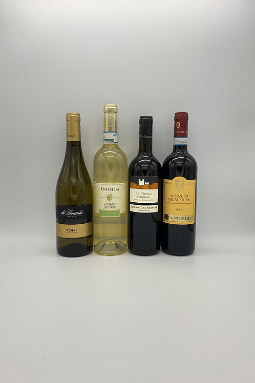 デイリーワイン4本セット(白ワイン2本、赤ワイン2本)