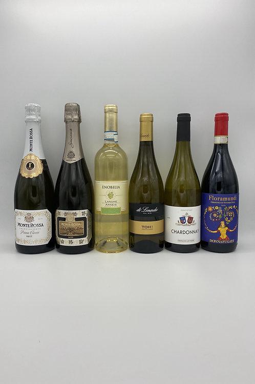 モンテ・ロッサのフランチャコルタ2本と白ワイン3本、赤ワイン1本セット