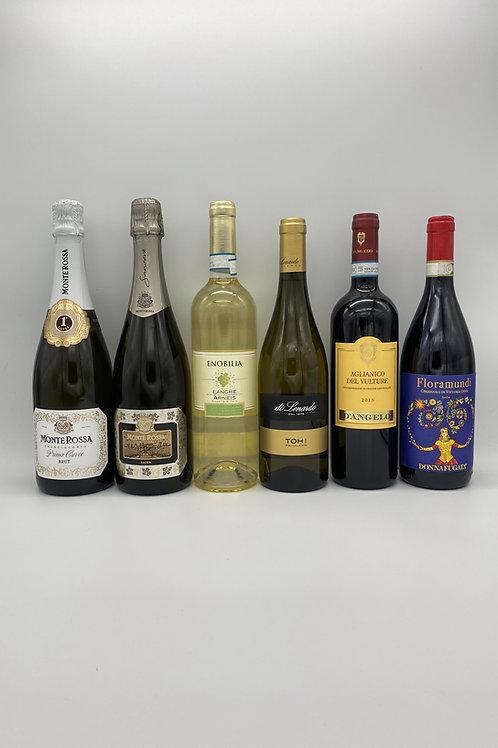 モンテ・ロッサのフランチャコルタ2本と白ワイン2本、赤ワイン2本セット