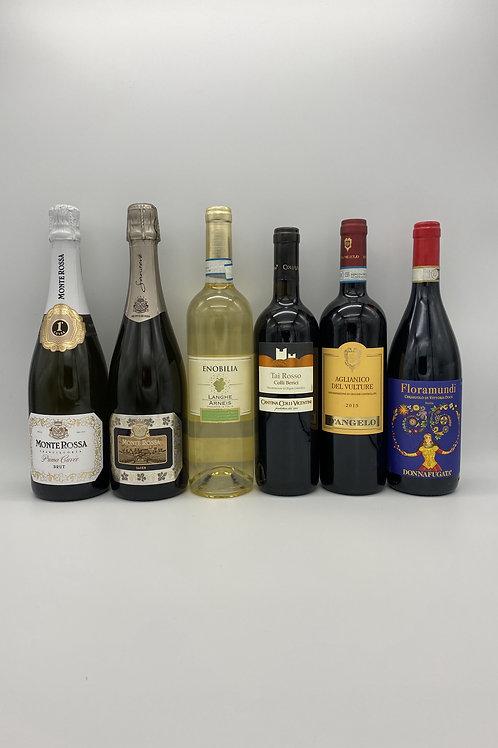 モンテ・ロッサのフランチャコルタ2本と白ワイン1本、赤ワイン3本セット