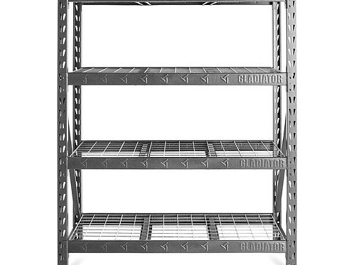 152cm Wide Heavy Duty Rack with Four 45cm Deep Shelves