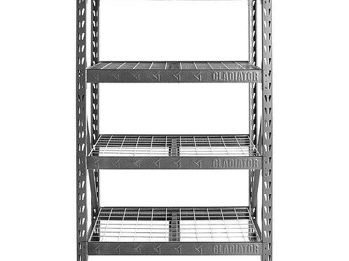 122cm Wide Heavy Duty Rack with Four 46cm Deep Shelves