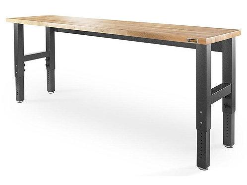 2.4m Wide Adjustable Height Hardwood Workbench