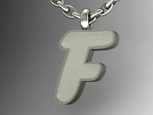 bubble letter graffiti pendant this sterling silver pendant measures approximately 135 mm high 115 mm wide 3 mm thick deep included in price free 16
