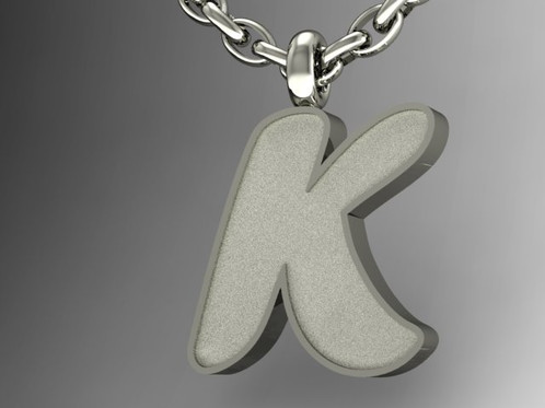 Bubble Letter Graffiti Pendant K
