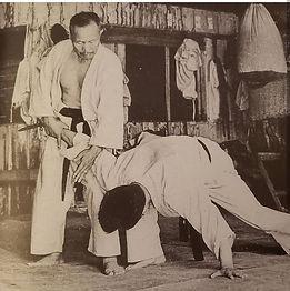 Soto ude uke or gedan barai - old pictur