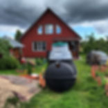 монтаж септика стоимость дешевый недорогой Росток Rostok загородная канализация для дачи и дома пластиковый бюджетный с установкой под ключ септики фото