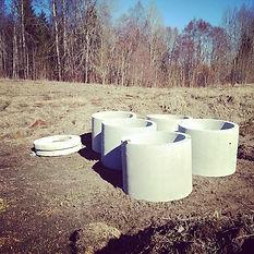 бетонный септик сервис в спб из колец установка септика фото для высоких грунтовых вод правильный ленобласть
