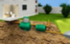 схема септика сервис дешевый недорогой Росток Rostok загородная канализация для дачи и дома продажа выбор бюджетный с установкой под ключ септики емкость слив фото