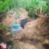монтаж септика стоимость дешевый недорогой Росток Rostok загородная канализация для дачи и дома канава бюджетный с установкой под ключ септики фото