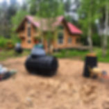 монтаж септика стоимость дешевый недорогой Росток Rostok загородная канализация для дачи и дома продажа выбор бюджетный с установкой под ключ септики фото