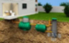 схема септика сервис дешевый недорогой Росток Rostok загородная канализация для дачи и дома продажа выбор бюджетный работа монтажу септика емкость слив фото
