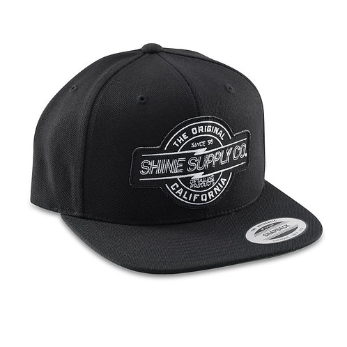 SHINE SUPPLY CO. SNAPBACK HAT - BLACK