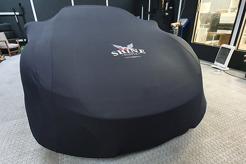 BLACK SUPER SOFT STRETCH INDOOR CAR COVER