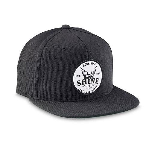"""""""WORK HARD"""" SNAPBACK HAT (FLAT BILL) - BLACK"""