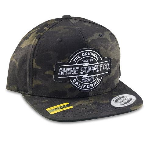 SHINE SUPPLY CO. SNAPBACK HAT - BLACK CAMO