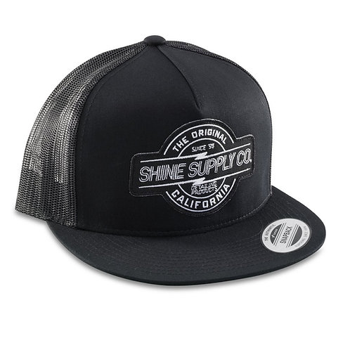 SHINE SUPPLY CO. SNAPBACK HAT - BLACK/BLACK