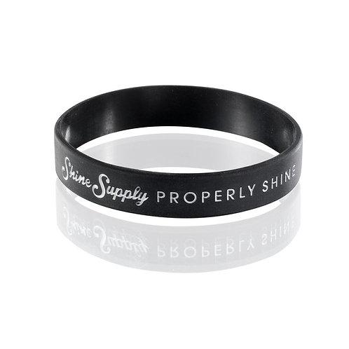 "SHINE SUPPLY ""PROPERLY SHINE"" WRISTBAND"