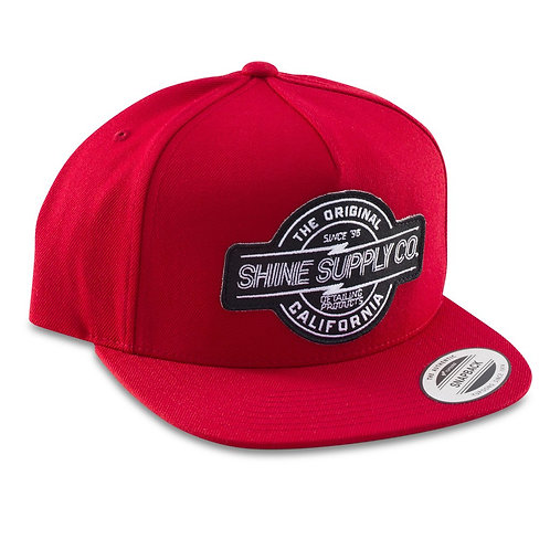 SHINE SUPPLY CO. SNAPBACK HAT - RED
