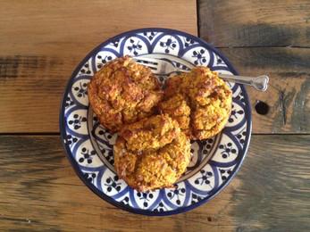 Wortel/kokos muffins