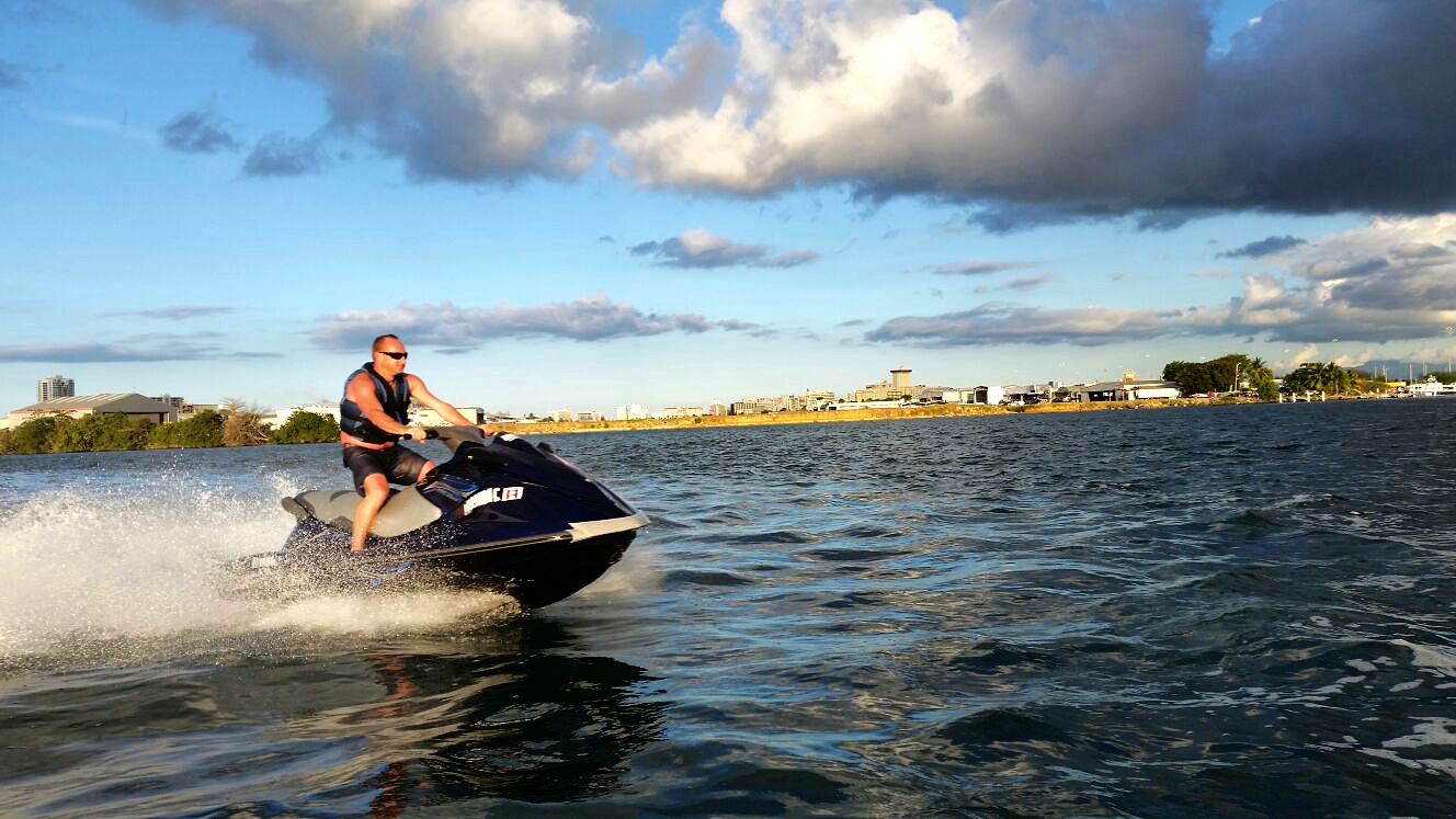 Jet Ski in San Juan at full speed