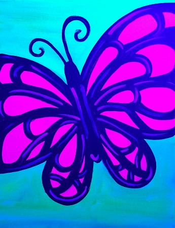 Butterfly small glow Kids 11X14