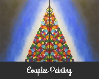 couples christmas tree full