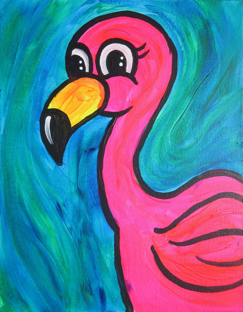 glow flamingo Kids 11X14