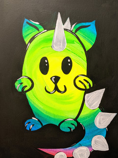 Glow Catasaurs Kids 11X14
