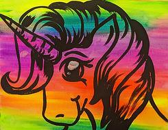 Kids Glow Rainbow Unicorn 11X14