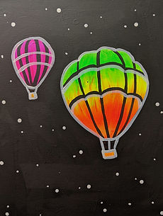 Glow Hot Air ballons kids 11X14