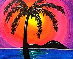 Glow Tropical Sunset kids 11X14