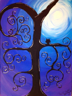 Curly Tree by moonlight