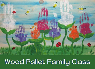 Wood Pallet Family Class Spring Flowers