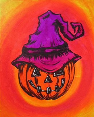 Glow Witches Jack-o-lantern 16X20