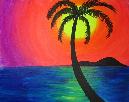 Tropical Sunset Glow 16X20