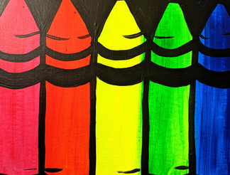Glow crayons small Kids 11X14