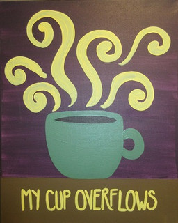 Cup overflows