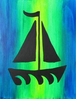 Glow Boat 11X14 Kids