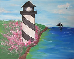 Lighthouse in Spring