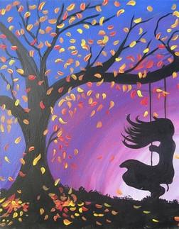 Girl on Swing Fall