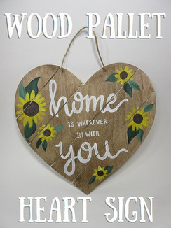 Wood Pallet Heart sign