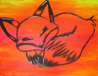 Glow Fox Kids 16X20