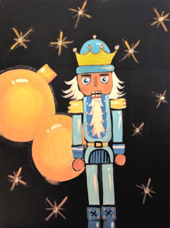 Nutcracker With Gold Ornaments