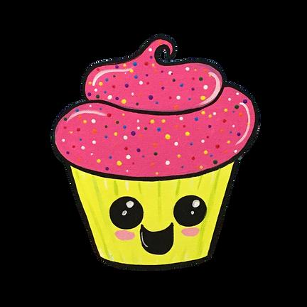 Kawaii Cupcake transparent background.pn