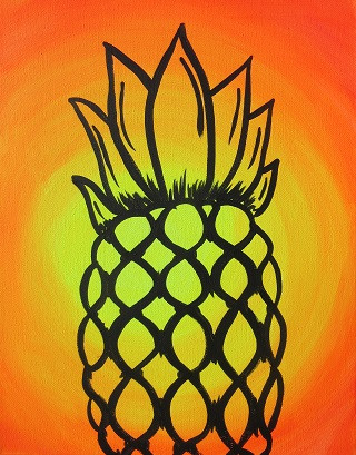 Glow Pineapple 11X14 Kids