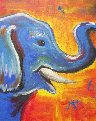 Painted Eliphant III